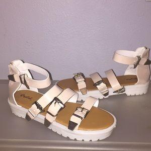 Open Toe, Plat Form Sandals